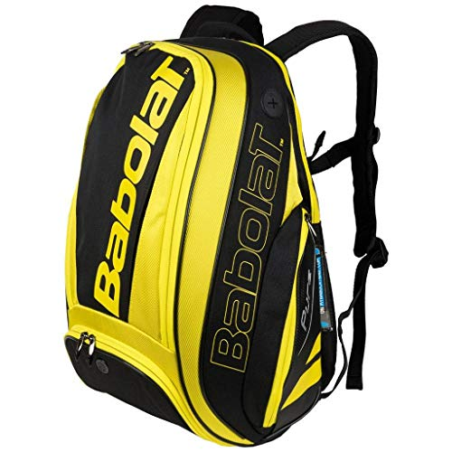 Babolat 2019 Pure Series Quality Tennis Backpack (Aero Yellow/Black) (Best Tennis Bags 2019)