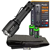 Fenix TK25 R&B (Red & Blue) White 1000 Lumen Multi-Color LED tactical hunting Flashlight with 2 X EdisonBright CR123A batteries
