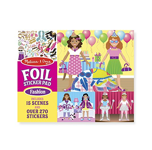 Melissa & Doug Fabulous Foil Sticker (Girls Sticker Paper Dolls)