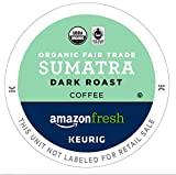 AmazonFresh 80 Ct. Organic Fair Trade K-Cups, Sumatra Dark...