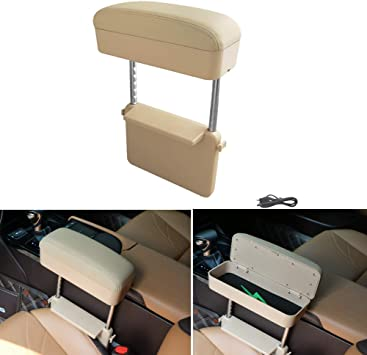 Black line YEE PIN Car Armrest Rest Pads Armrest Box Elbow Support Pads Armrest Center Console Organizer Universal Fit for All Car Models Adjustable Height Comfort Arm Rest Pads