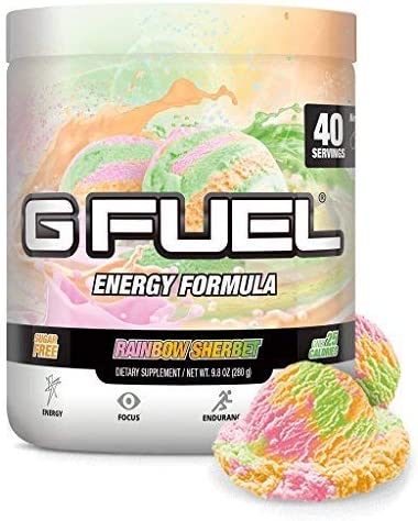 G Fuel Rainbow Sherbet Tub 40 Servings Elite Energy and Endurance Formula