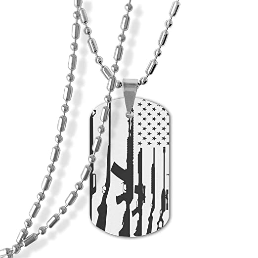 Jewelry Military Pendant Brand Necklace Metal Dog Tag