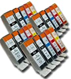 20 Chipped Compatible High-Capacity Canon PGI-525 & CLI-526 Ink Cartridges for Canon Pixma MG5150