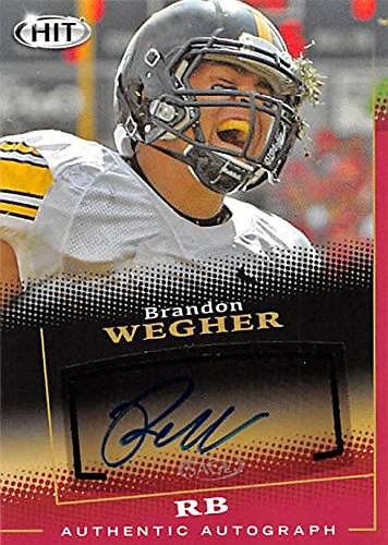 248792 Brandon Wegher Autographed Football Card - Morningside College 2015 Sage Hit - No. A23 Rookie ()