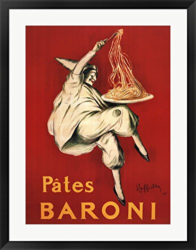 Cappiello Framed Art (Pates Baroni, 1921 by Leonetto Cappiello Framed Art Print Wall Picture, Black Frame with Hanging Cleat, 27 x 35)