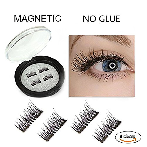 Magnetic Eyelashes No Glue Dual Magnetic False Eyelashes Reusable 3D Mink Eyelash Thick and Natural Look by Premium Quality Handmade for Comfortable and Easy Wearing