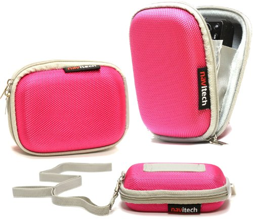Navitech Pink Water Resistant Hard Digital Camera Case - Nikon S02 Case