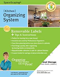SpaceScaping Kitchen Organizing System, 60 removable labels plus tips and instructions so you can organize your kitchen like the pros!