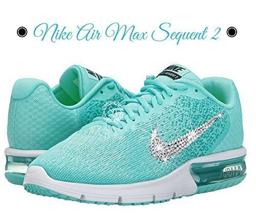 NIKE BLING, Teal, Nike Sequent 2, Custom Nike, Dance Team, Birthday Gift, Bling Nike by Sparkle Boutique