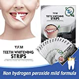 Charcoal Teeth Whitening Strips, Y.F.M Professional At Home Bamboo Teeth Whitening, 3D Dental Teeth Whitener, No Hydrogen Peroxide 14 Tablets