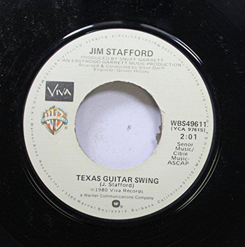 JIM STAFFORD 45 RPM TEXAS GUITAR SWING / COW PATTI