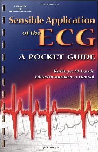 Free downloads of ebook Sensible Application of the Ecg: A Pocket Guide (Litríocht na hÉireann) PDF iBook PDB