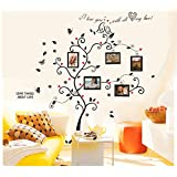 Amazon Price History for:BOGZON Kiss Birds Trees Hearts Leaves Black Photo Picture Frame Decal Removable Wall Decals Large Wall Stickers Love Quotes/Decorative Painting Supplies/Wall Sticker for Living Room Bedroom Wallpops Decal
