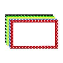 Top Notch Teacher Products TOP3653 Border Index Cards 3X5 Polka Dot Blank