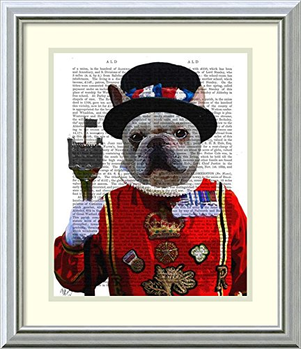 [Framed Art Print 'Bulldog Beefeater' by Fab Funky] (Beefeater Costumes)