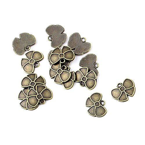 Price per 750 Pieces Antique Bronze Jewelry Making Charms Findings Supplies 25045 Clover Butterfly Craft Ancient Repair Lots DIY Pendant Vintage