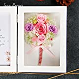 The imports rose Immortal flower photo frame Fresh rose Creative ornaments Mother's day-G