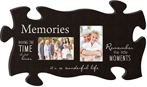- P. Graham Dunn Memories It's a Wonderful Life Black 13 x 22 Wall Hanging Double Photo Puzzle Piece Frame