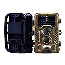 NEWBEN Wildlife Trail Camera with Night Vision, 12MP 1080P HD Waterproof Game Hunting Camera with Infrared LEDs Super Vision for Monitoring Foxes/Badgers/Deers/Hedgehogs and Other Wildlife Animals