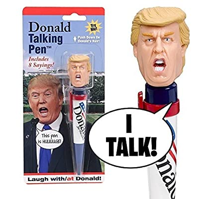 Donald Talking Pen, 8 Different Sayings, Trump\'s Real Voice, Just Click And Listen, Funny Gifts For Trump and Hillary Fans: Toys & Games [5Bkhe0303935]