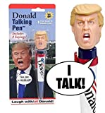 The Greatest Presidential Talking Pen God Ever Created!   When you play this hilarious Donald Trump Talking Pen for friends and family, you'll be the center of attention. Just like Donald! Simply press down on his famous hair and he'll tell you exac...