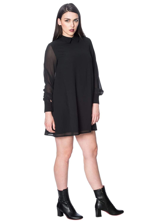 1960s Dresses | 60s Dresses Mod, Mini, Jackie O, Hippie Banned Undertaker See Through Dress $60.95 AT vintagedancer.com