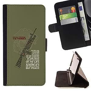 Momo Phone Case / Flip Funda de Cuero Case Cover - Solider machine Quote Vert - HTC One Mini 2 M8 MINI