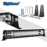 LED Light Bar Rigidhorse Triple Row 23 Inch Light Bar 216W Spot Flood Combo Off Road Light Bar High Bright for Ford F150 F350 Jeep wrangler Dodge Volvo Toyota 4runner