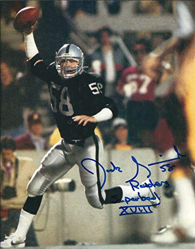 - Autographed Jack Squirek 8x10 Oakland Raiders Photo