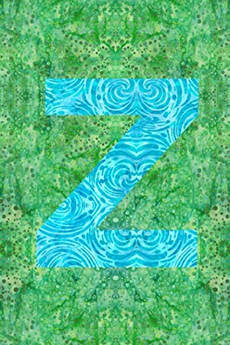 Z: 6x9 unique batik pattern lined journal diary planner : initial Z