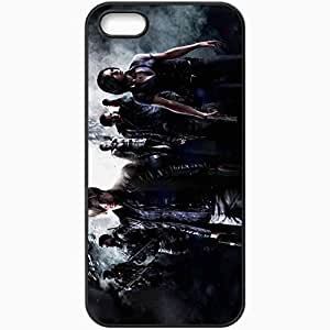 Personalized iPhone 5 5S Cell phone Case/Cover Skin Re 6 Black