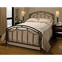 Hillsdale Furniture 1501BKR Arlington Bed Set with Rails, King, Bronze