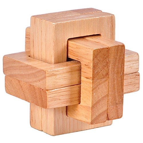 KINGOU Chinese Traditional Wooden Frame Lock Logic Puzzle IQ Brain Teaser Interlocking Burr Puzzles ()