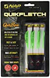 Quikfletch W/G/G Quikspin Nap Nation Fletch (6-Pack), 2-Inch