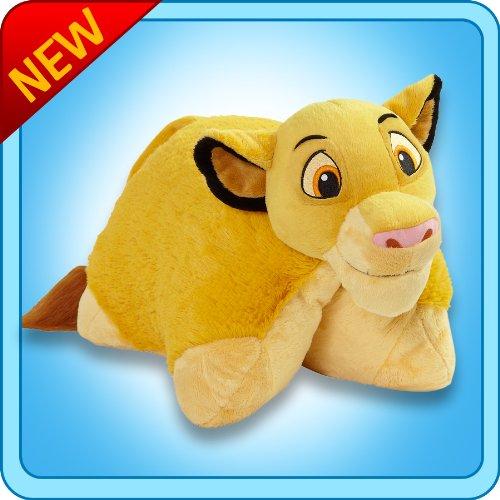 "Pillow Pets Authentic Disney 18"" Simba, Folding Plush Pil..."