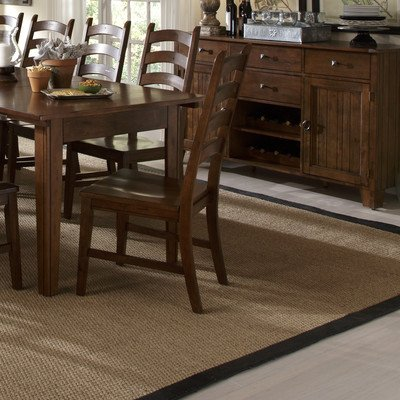 A-America Toluca Ladder Back Dining Side Chair - Rustic Amber - Set of 2 ()