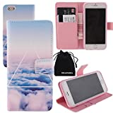iPhone 6s Plus Case PU Leather Wallet Case Flip Cover by DRUnKQUEEn with Credit / Business / ID Card Cash Holder for Apple iPhone6s Plus & iPhone6 Plus