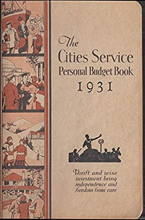 cities service personal budget book 1931 at amazon s entertainment