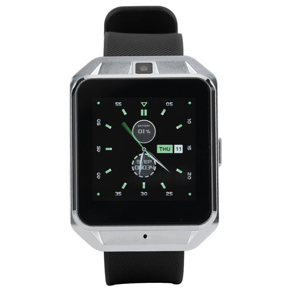 Smart Watch 4G and WiFi Smart Camera Watch 5MP Photo Taking Smart Sport Watch Fitness Tracker Watch Pedometer Watch for Android(Silver)