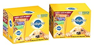 PEDIGREE Choice Cuts Variety Pack Grilled Chicken, Beef & Chicken Casserole Dog Food 3.5 oz 36 Count