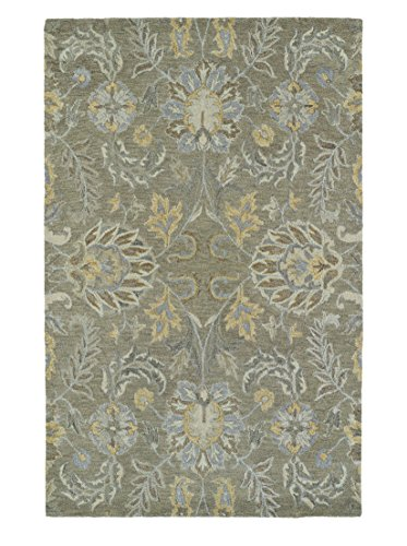 Traditional Hand Tufted Sage (Kaleen Rugs Helena Hand-Tufted Area Rug, Sage, 5' x 7' 9