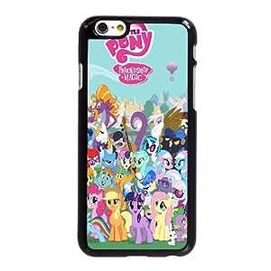 N4R11 My Little Pony E0I1IN funda iPhone 6 Plus 5.5 pufunda LGadas funda caja del teléfono celular cubren XF1IXV8JY negro