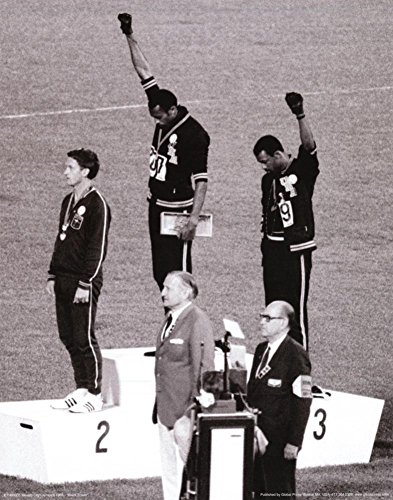 Black Power Tommie Smith & John Carlos, Olympics, 1968 Photo Print Poster
