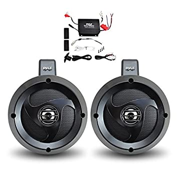 sound system kit. pyle plutva102 waterproof dual wakeboard speaker and amplifier sound system kit, includes (2) kit