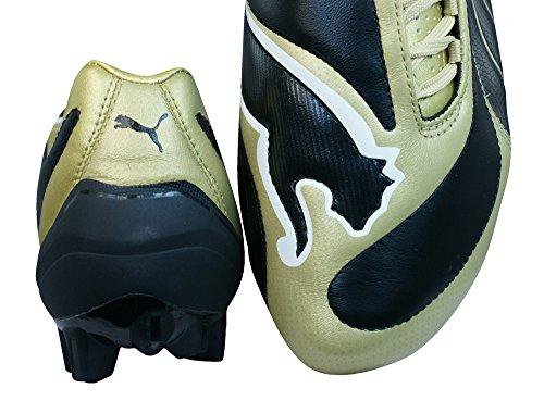 Puma V3.08 i FG Hombres Botas de fútbol de cuero Black