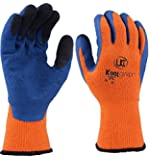 UCi KOOLgrip™ Thermo-Star Latex Palm Coated Thermal Cold Winter Grip Gloves (8 - Medium, Orange)