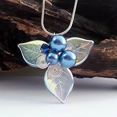Woodland Triquetra Necklace - Celtic Blue