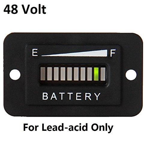 Searon 48V Volt LED Battery Indicator Meter Guage for EZGO Club Car Yamaha Golf Cart Motorcycle Car by SEARON (Image #5)