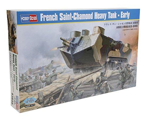 """HobbyBoss Echelle 1: 35Kit modèle """"Français saint-chamond Heavy Tank Early (Gris)"""